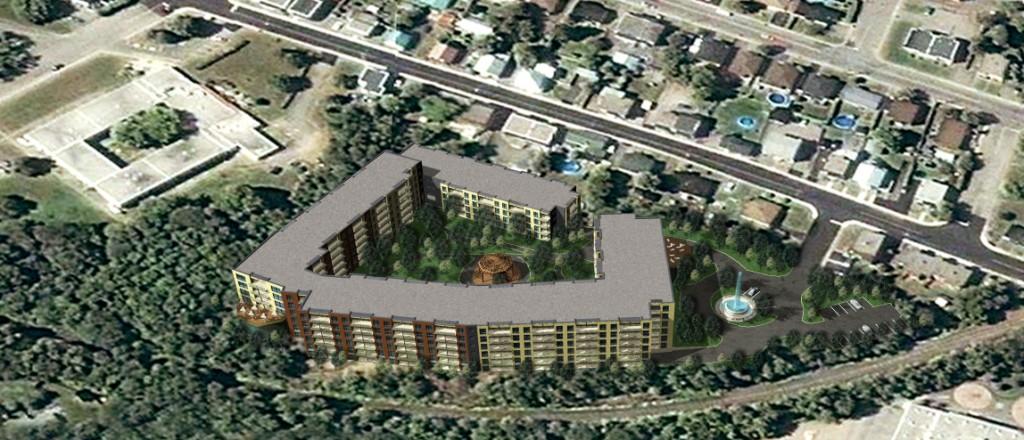 perspective 3D bâtiments 4 à 6 étages St-Jérôme